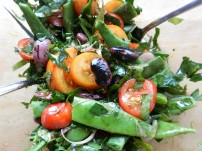 Fisolen-Bohnen-Tomatensalat